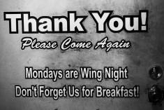 Thank you breakfast